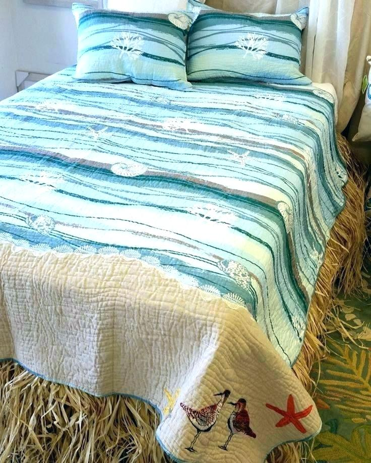 beach bedding sets queen quilts themed comforters comforter full sandpipers quilt set coastal bedroom theme