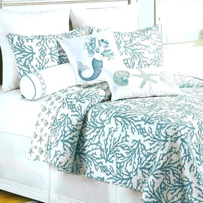 coastal life bedding living blue and coral wedding quilts bedroom comforter se