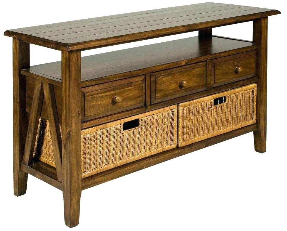 patio console table outdoor with storage rattan versatile wicker seating furniture tab