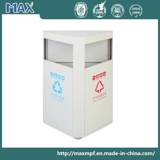 triangle beige staircase bin big open recycling trash can china